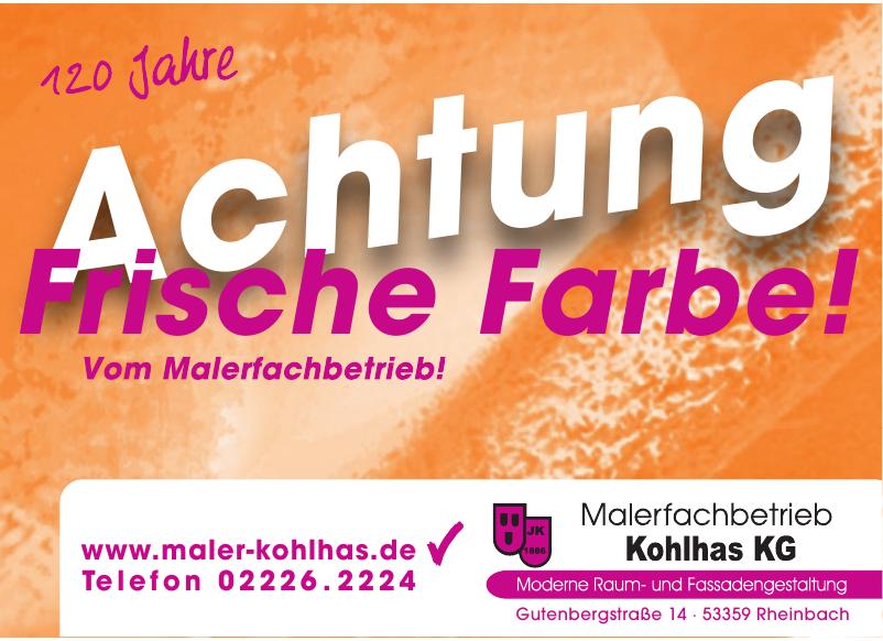Malerfachbetrieb Kohlhas KG