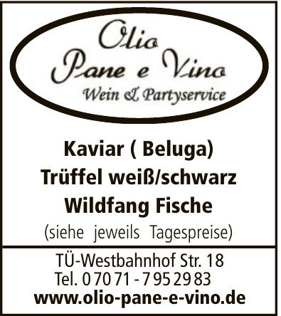 Olio, Pane & Vino