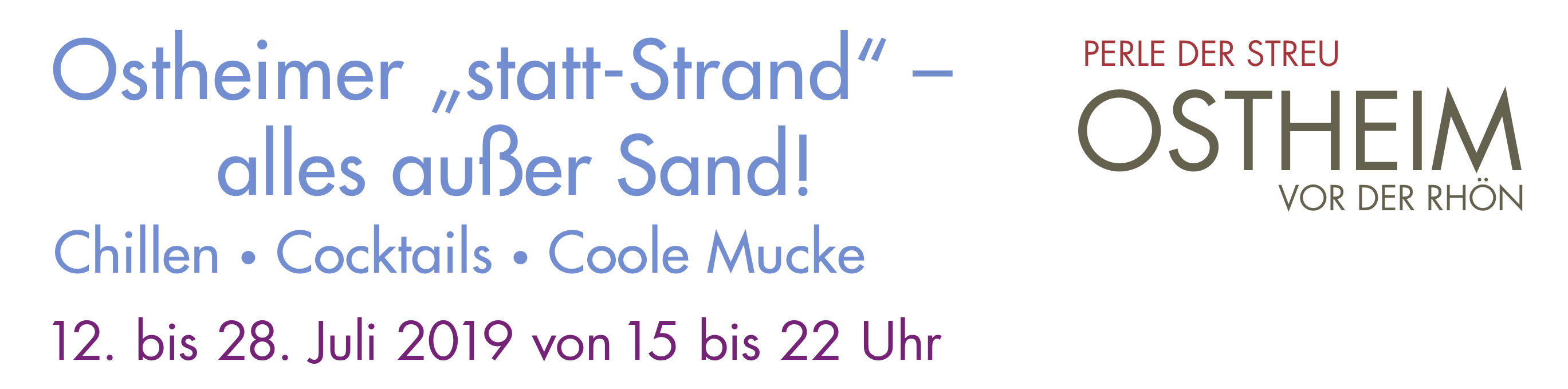 """Ostheimer """"statt-Strand"""" – alles außer Sand! Image 1"""