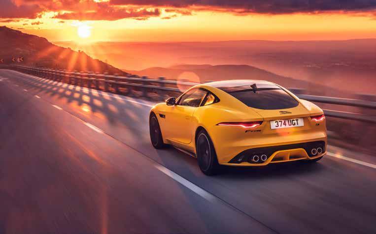 VERBRAUCHSANGABEN Jaguar F-Type V8: CO2 -Ausstoß (g/km): 184 Abgasnorm: Euro 6d; Effizienzklasse: E