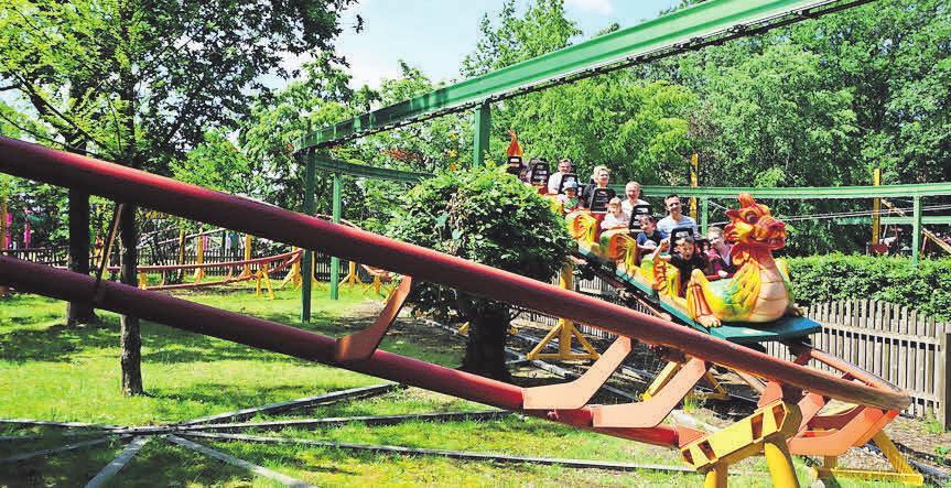 Im Erse Park Uetze haben Groß und Klein viel Spaß bei den rasanten Fahrgastattraktionen.
