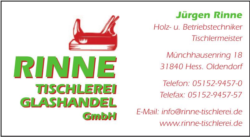 Rinne Tischlerei Glashandel GmbH