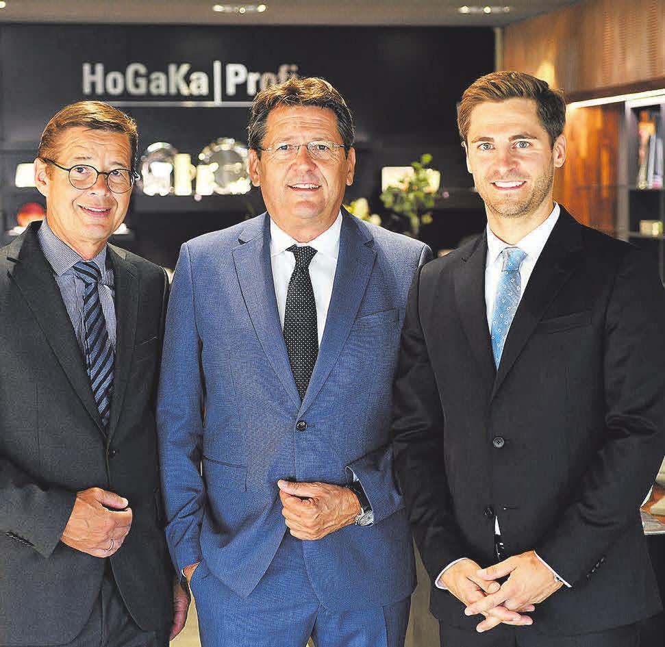 Geschäftsleitung: von links nach rechts Uwe Schein, Thomas Eifert, Florian Eifert.
