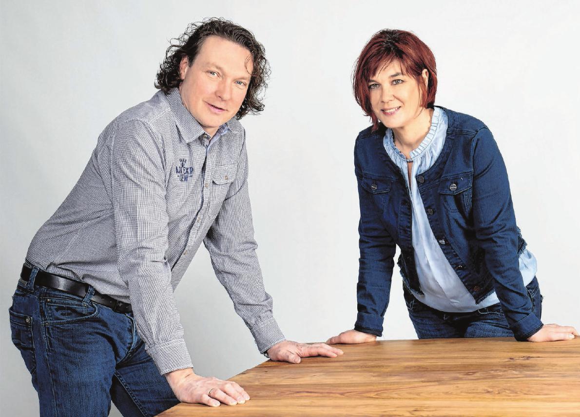 Die Spezialisten für Decken und Böden: Eva und Markus Merkle. Foto: Beatrix Hörmann