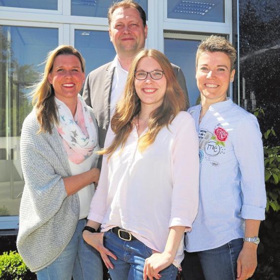 Ein starkes Team: Danica und Dennis Berling, Kristin Fiedler und Lena Leddin ergänzen sich perfekt. Nicht abgebildet: Anja Rückwardt und Jerzy Gardulski. Foto: Funke
