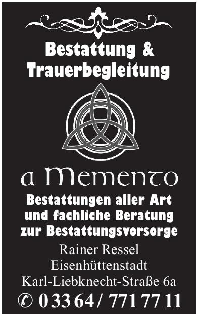 aMemento Bestattungen - Rainer Ressel