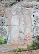 Rekonstruiert: Grabplatte.