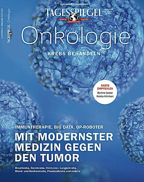 """Blau ist die Hoffnung. Das Cover des Tagesspiegel-Ratgebers """"Onkologie"""""""