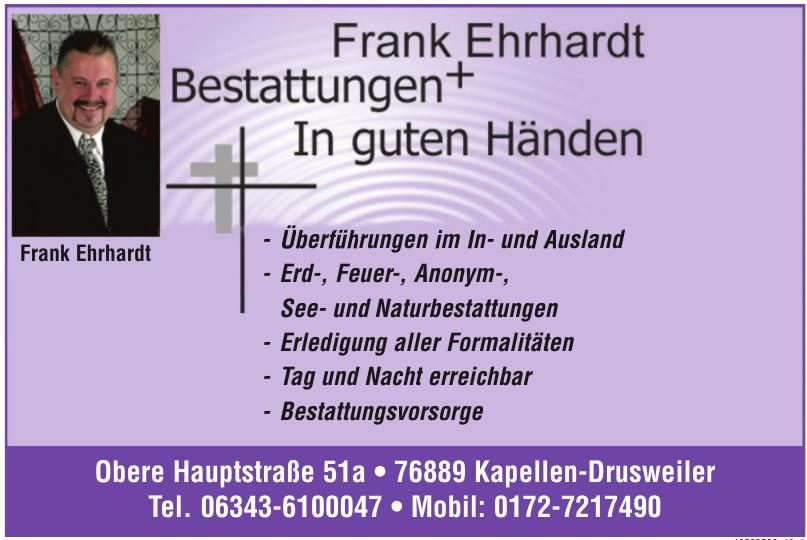 Frank Ehrhardt Bestattungen + In guten Händen