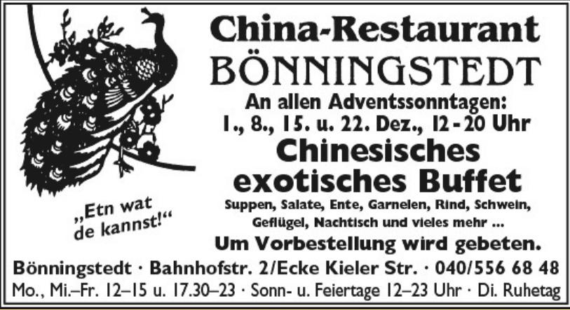 China-Restaurant Bönningstedt