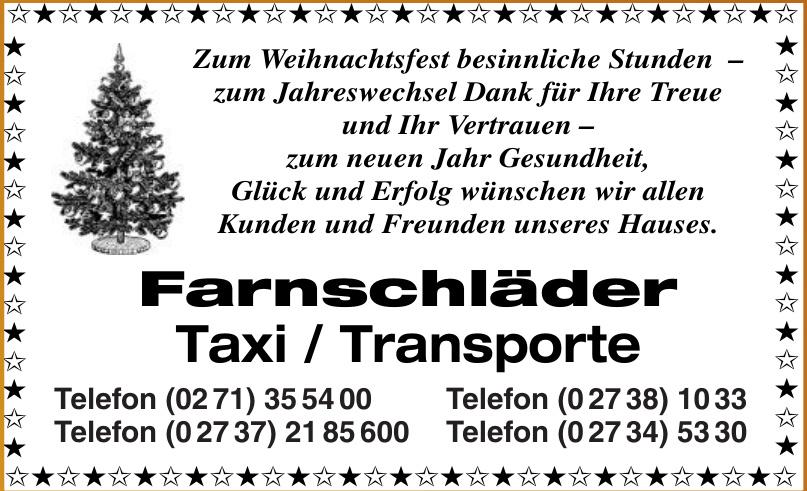 Farnschläder Taxi / Transporte