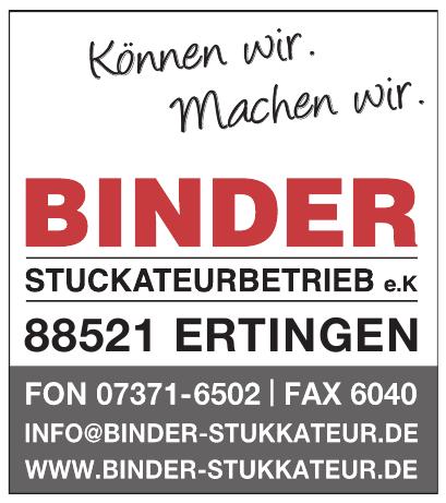 Binder Stuckateurbetrieb e. K.