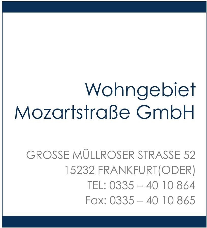 Wohngebiet Mozartstraße GmbH