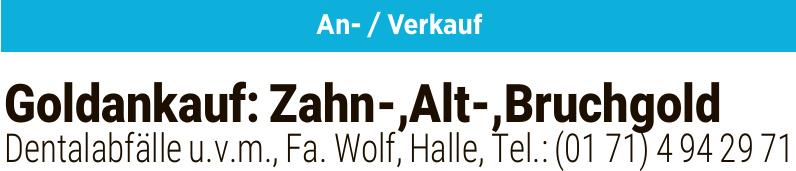 Wolf - Goldankauf