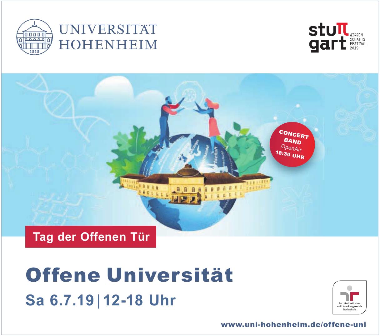 Die Universität Hohenheim
