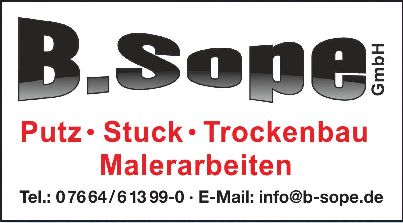 B. Sope GmbH