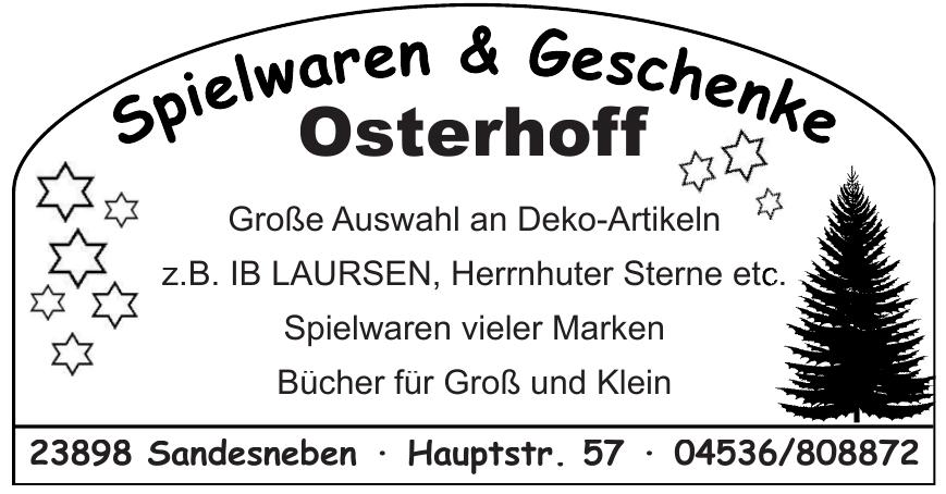 Spielwaren & Geschenke Osterhoff