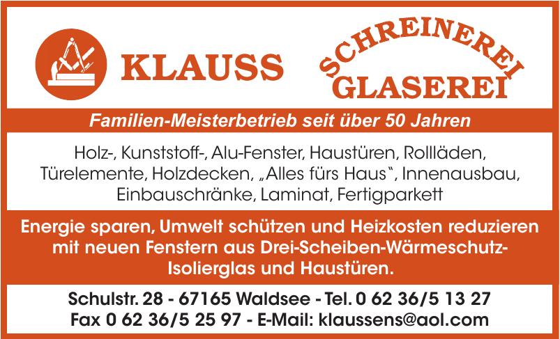 Klaus Schreinerei Glaserei