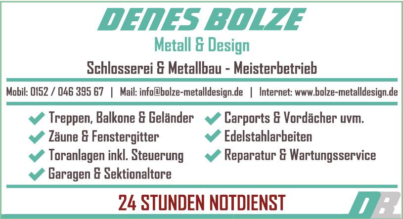 Metall & Design Denes Bolze