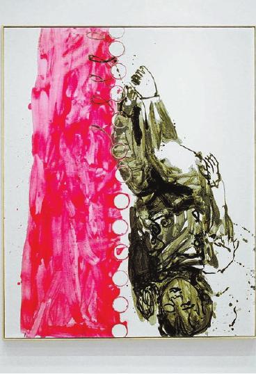 """""""Schlafende Knaben I"""" – Georg Baselitz schuf dieses Ölgemälde im Jahr 1998. Auch bei Kern sind immer wieder Schlafende zu finden. Foto: Archiv/thumi"""
