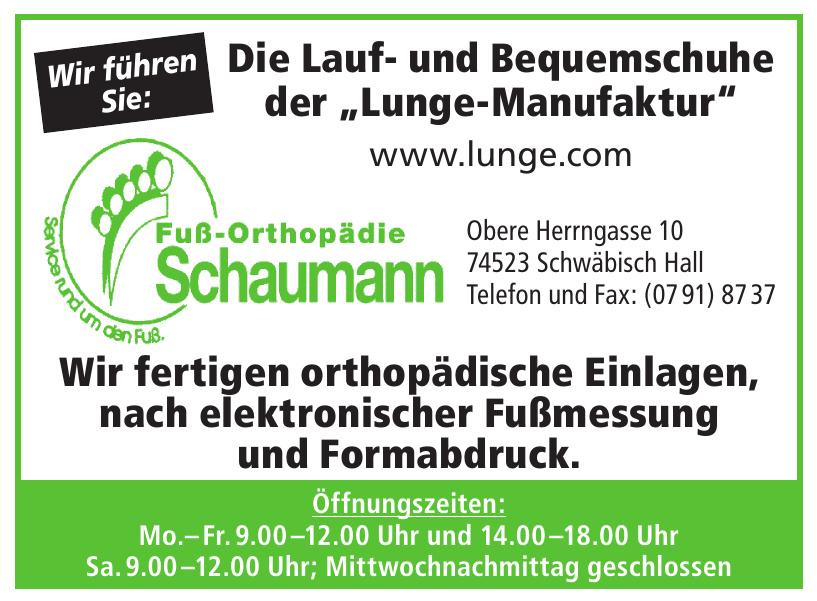 Fuß-Orthopädie Schaumann
