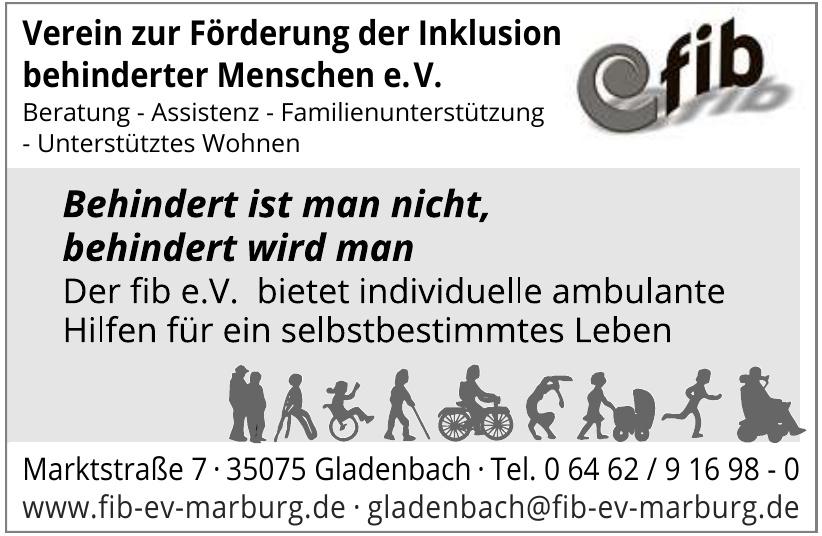 fib Verein zur Förderung der Inklusion behinderter Menschen e.V.