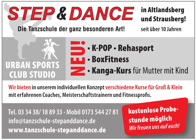 Step & Dance Die Tanzschule der ganz besonderen Art