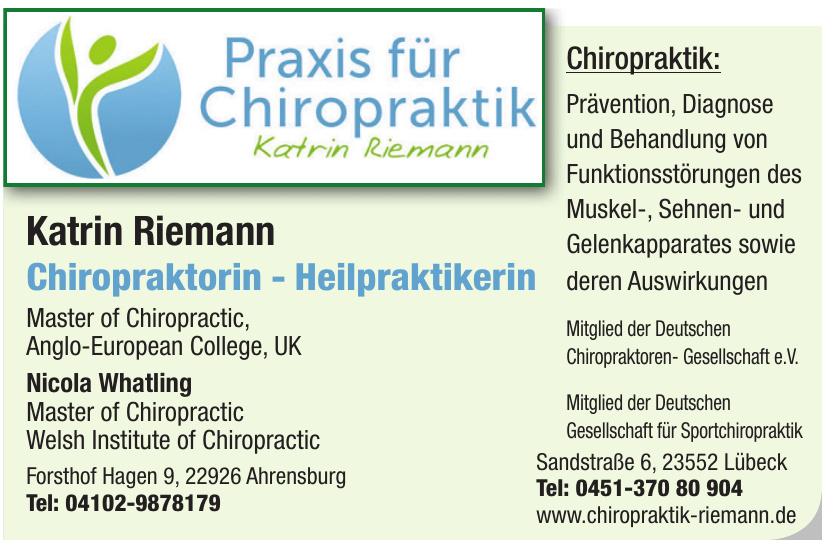 Katrin Riemann Chiropraktorin - Heilpraktikerin