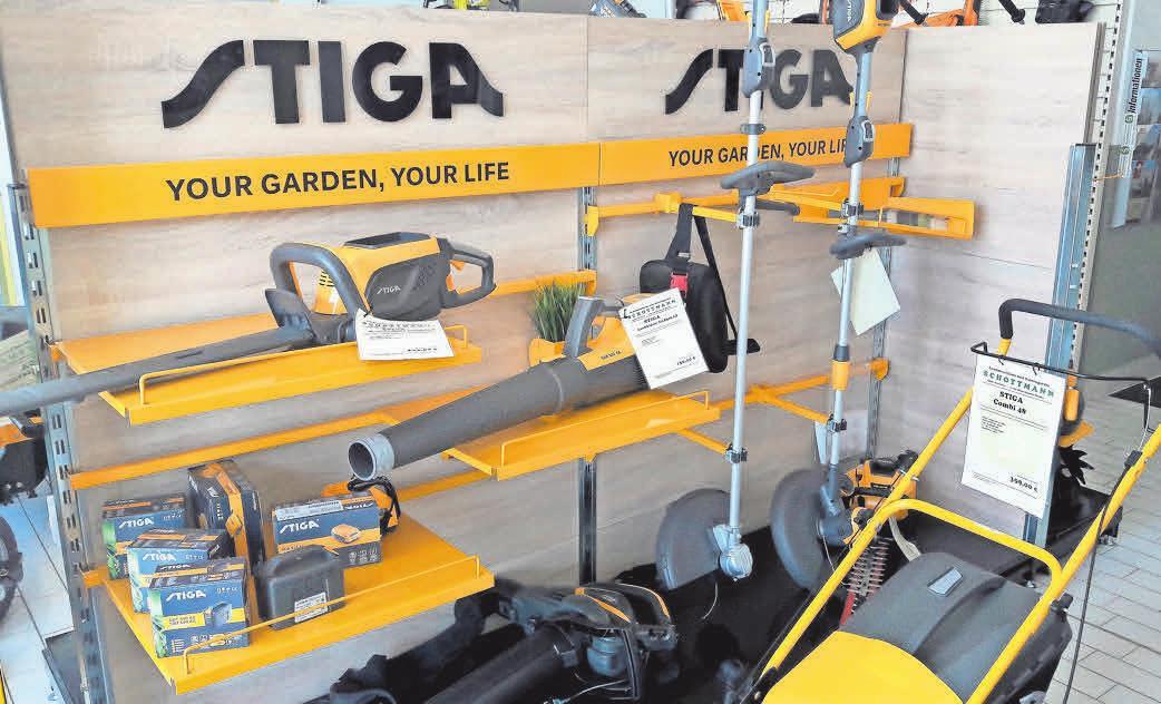 Die Auswahl an Gartengeräten aller Art beweist eine hohe Kompetenz des Unternehmens.