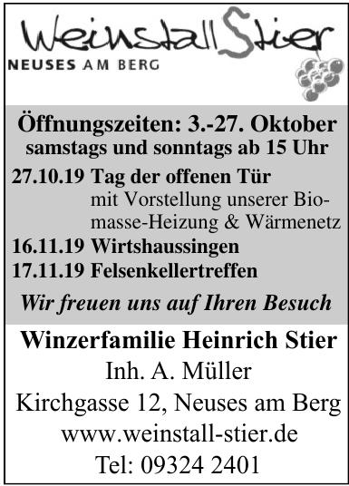 Winzerfamilie Heinrich Stier