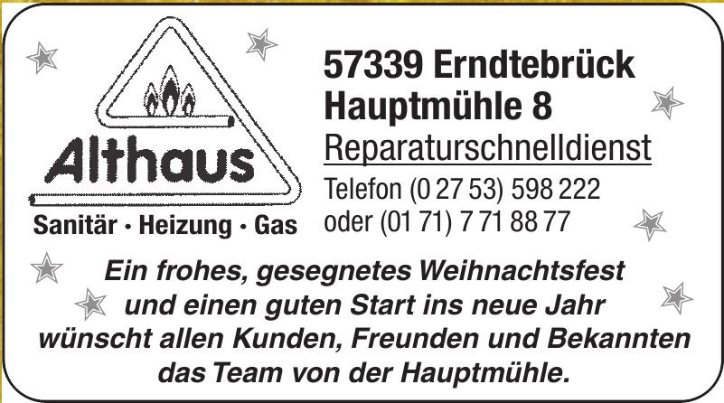 Althaus Reparaturschnelldienst