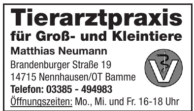 Tierarztpraxis für Groß- und Kleintiere - Matthias Neumann
