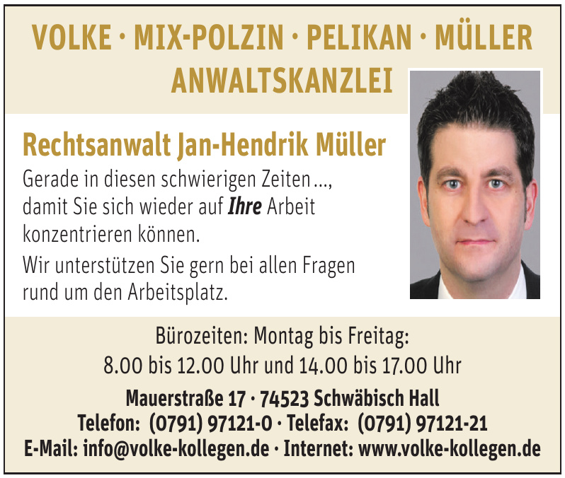 Volke - Mix-Polzin, Pelikan, Müller Anwaltskanzlei