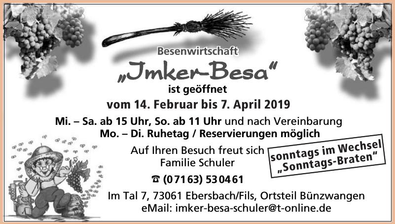 """Besenwirtschaft """"Imker-Besa"""""""