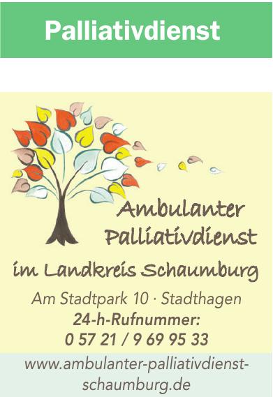 Ambulanter Palliativdienst im Landkreis Schaumburg