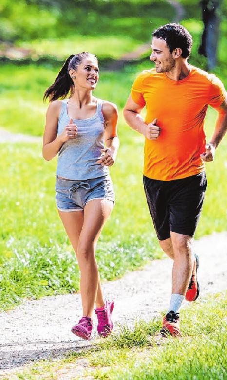 Ausdauersportarten wie Joggen oder Walken sind gut für die Gesundheit. FOTOS: SHUTTERSTOCK.COM