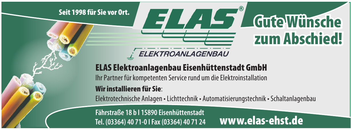 ELAS Elektroanlagenbau Eisenhüttenstadt GmbH