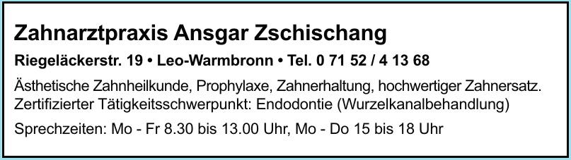 Zahnarztpraxis Ansgar Zschischang