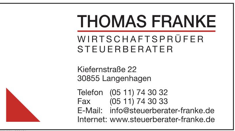 Thomas Franke Wirtschaftsprüfer Steuerberater