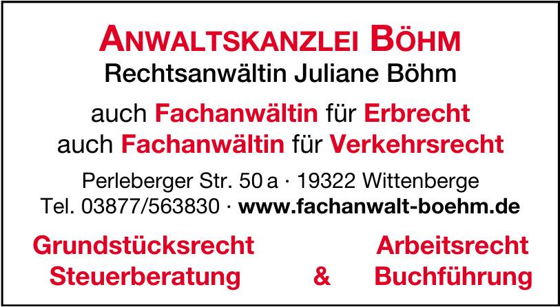 Anwaltskanzlei Böhm