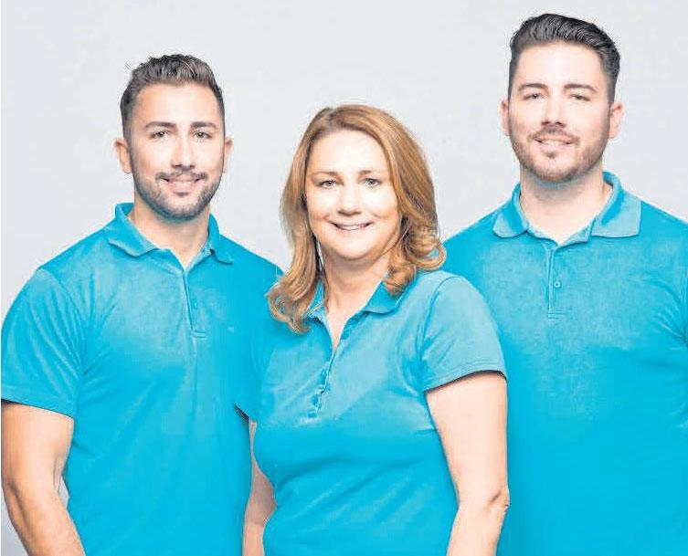 Ein starkes Führungsteam: Niklas (von links), Kerstin und Torben Behrens.