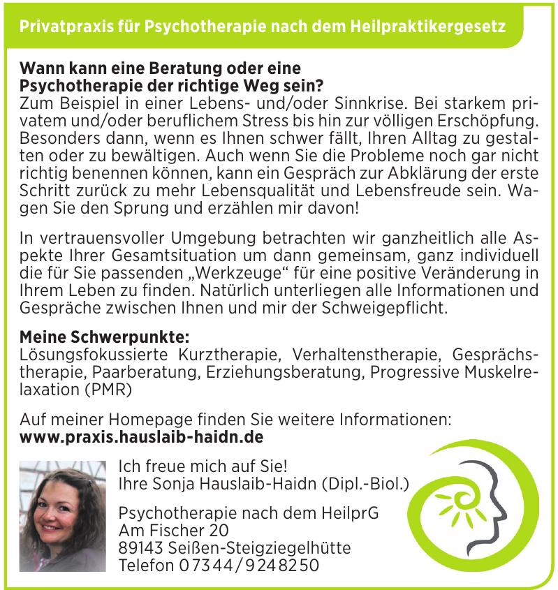 Privatpraxis für Psychotherapie nach dem Heilpraktikergesetz