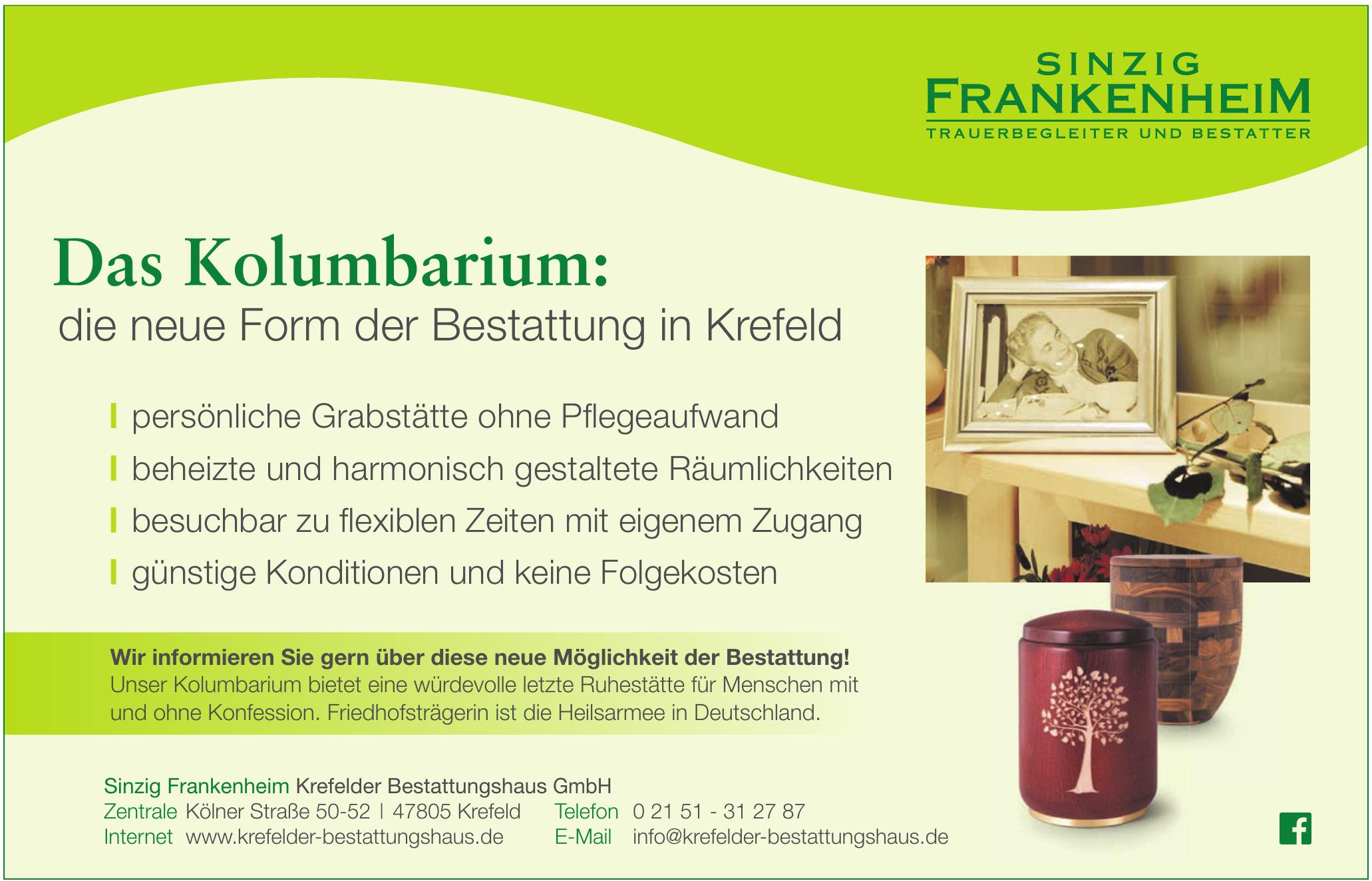Sinzig Frankenheim Krefelder Bestattungshaus GmbH