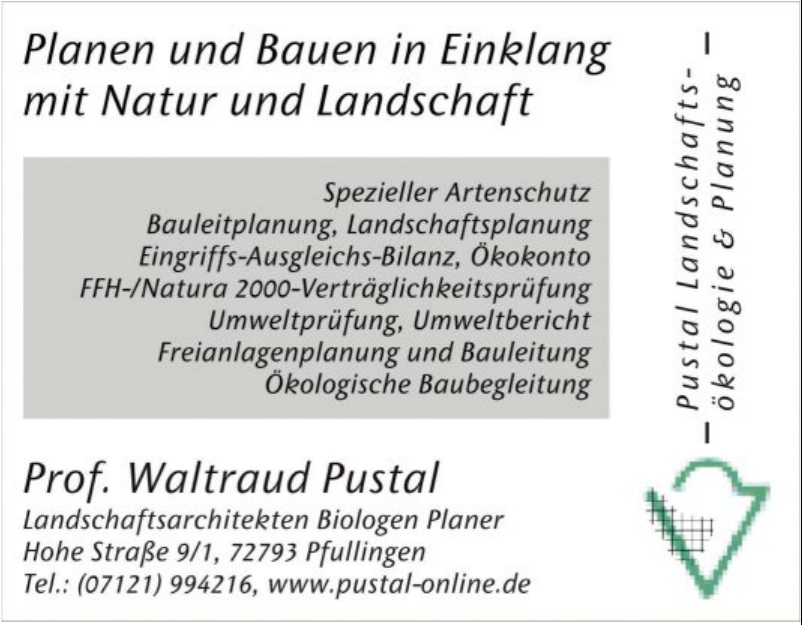 Pustal Landschaftsökologie und Planung