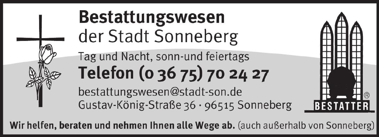 Bestattungswesen der Stadt Sonneberg