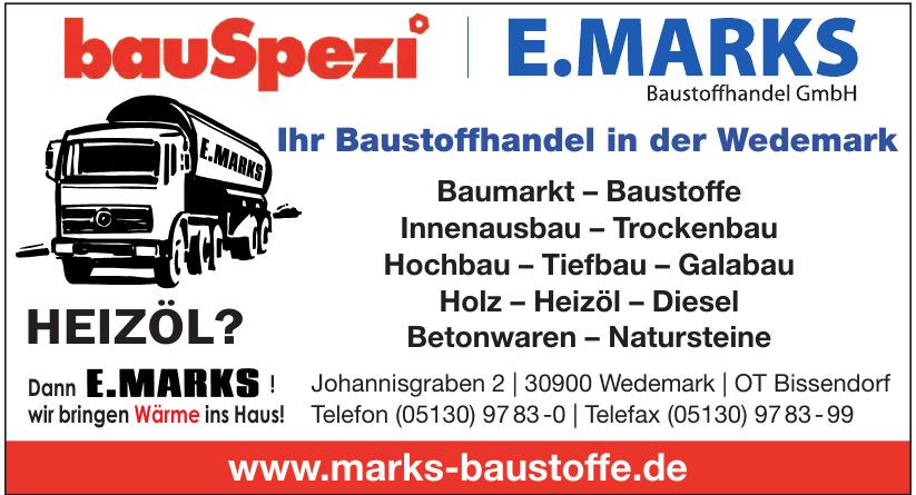 E. Marks