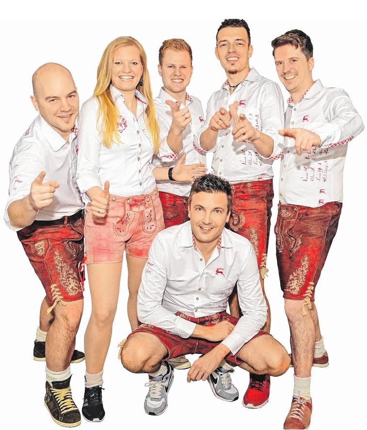 """Da geht's ab: Volles Programm Party verspricht die Formation """"Die Vagabunden"""", die am Samstag beim Donnersdorfer Weinfest zu Gast ist. FOTO: VAGABUNDEN"""