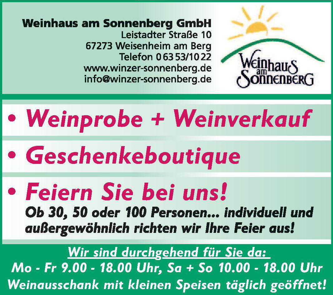 Weinhaus am Sonnenberg GmbH