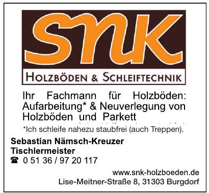 snk Holzboden & Schleiftechnik Sebastian Nämsch-Kreuzer Tischlermeister