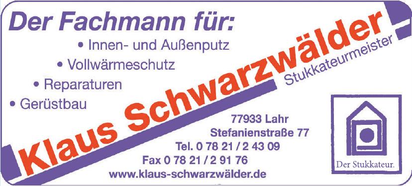 Klaus Schwarzwälder Stukkateurmeister